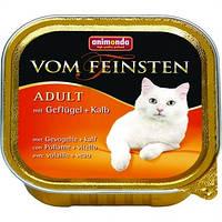 Анимонда консервы для кошек птица и телятина 100 гр.