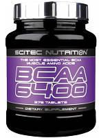 Аминокислоты Scitec Nutrition - BCAA 6400 (125 таблеток) pure/без вкуса (чистый), 375 таб