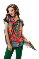 Блузка женская яркая нарядная летняя с коротким рукавом Enny