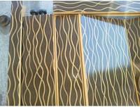 Двери гармошка раздвижные межкомнатные пластиковые ассортимент Бежевая волна (Глянц.)