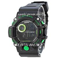 Неубиваемые спортивные наручные часы Casio G-Shock GW-9400 Black-Green