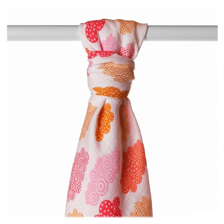 Пеленка детская бамбуковая, муслиновая XKKO 90x100 двухслойная 1 шт. Разноцветный для девочки