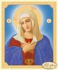 Схема для вышивки бисером икона Божией Матери Умиление