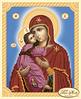 Схема для вышивки бисером икона Божья Матерь Владимировская