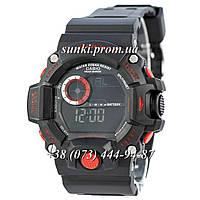 Неубиваемые спортивные наручные часы Casio G-Shock GW-9400 Black-Red New