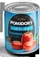 Консервированные помидоры Green Garden целые без шкурки 400г