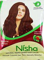 Индийская хна басма коричневая Nisha 6*15г натуральная