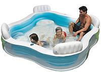 Intex Надувной семейный бассейн 56475 со спинками