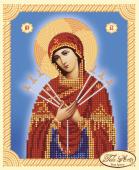 Схема для вышивки бисером икона Божья Матерь Семистрельная, фото 2