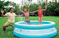 Надувной бассейн Intex 57489 с прозрачными стенками линза: 203х51см