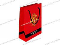 Пакет бумажный подарочный, 26х32см Manchester U /5/140//(MU14-266K)