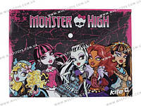 Папка на кнопе, А4 Monster High /12/480/960/(MH13-200K)