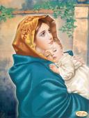 "Схема для вышивки бисером на атласе ""Мадонна с младенцем"", фото 2"