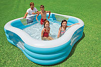 Семейный надувной бассейн с бортиками Intex 57495: 229х229х56см