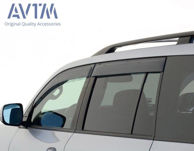 Дефлектори вікон (вітровики) Тойота Land Cruiser 200/Лексус LX570 2007- (широкі)