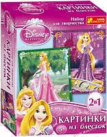 """Картинка з гліттеру Дісней """"Принцеси Аврора  та Рапунцель"""" 13153012Р(2024-01)"""