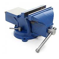 Тиски поворотные Kraft & Dele 100 мм с наковальней KD1101