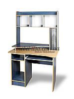 Компьютерный стол СКМ-2 (ольха темная, зеркальный)