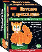 """Набір для дослідів """" Магічні тварини. Котик у кристалах"""" 12100326Р(264)"""