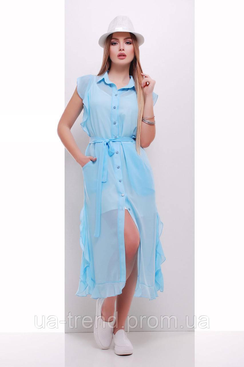 Женская платье на пляж из шифона