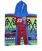 Пляжное полотенце с капюшоном для мальчика.