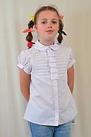 Красивая нарядная белая школьная блузка р.152 Польша.