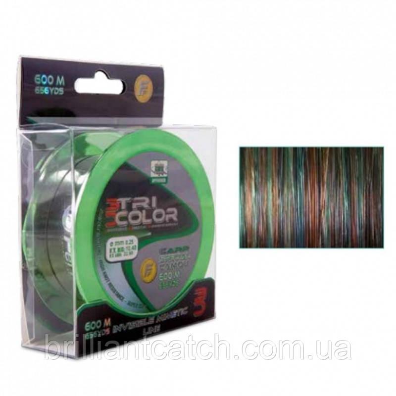 Леска Lineaeffe Camou Carp Tri Colour  0.30мм 300м. FishTest 14.20кг (3в1-т.зел/коричн/серый)