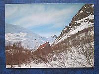 Открытка СССР Домбай Хижина альпинистов 1983