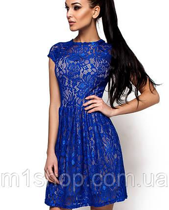 Женское гипюровое платье с коротким рукавом(Орионkr), фото 2
