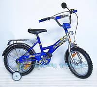 "Велосипед 2-х колес 12'' 101204 (1шт)""орленок"" син,с звонком,зеркалами,задним и руч.торм"
