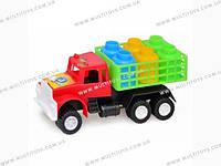 Машина М грузовик с бидонами 18х9х7,5см КВ /25(03-302)