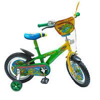 "Велосипед 2-х колес 16"" 141603 (1шт) со звонком,зеркалом,вставками в колесах"