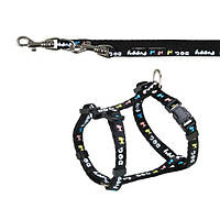 Поводок+шлея Trixie Puppy Harness для щенков нейлоновая, 23-34 см, фото 1