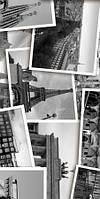 Керамическая плитка декор Absolute Collage черно-белый, фото 1