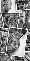 Керамічна плитка декор Absolute Collage чорно-білий