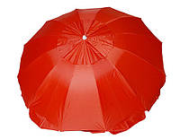 Зонт торговый круглый с серебряным напылением и клапанном 10 спиц 2,2м