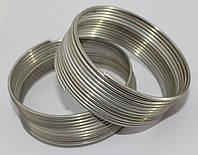 Проволока для бижутерии. Серебро, матовая  2,0 мм  2,5 метра. Мягкая