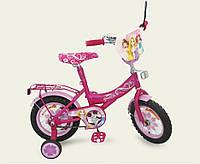 Велосипед 2-х колесный 12'' 151222 , со звонком, зеркалом, с вставками в колесах