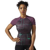 Компрессионная футболка Reebok CrossFit Paddle URBAN PLUM F14-R BQ5176 - 2017/2