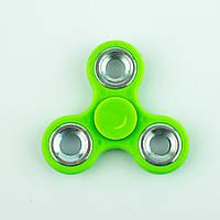 Спиннер пластиковый зелёный тройник с металлическими вставками Spinner plast 096-R