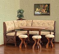 Кухонный уголок плюс стол и табуретки Сиеста (дерево)