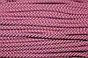 Шнур 6мм с наполнителем (100м) розовый+черный