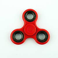 Спиннер пластиковый красный тройник с металлическими вставками