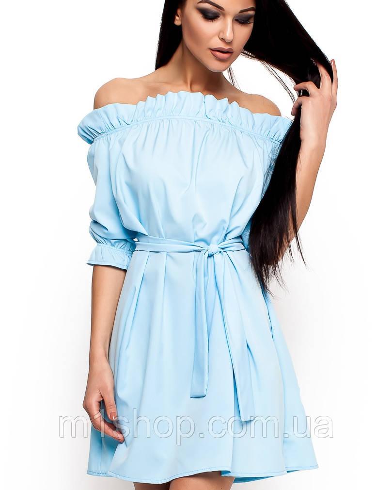 Платья с опущенным плечом фото