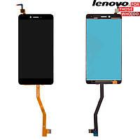 Дисплейный модуль (дисплей + сенсор) для Lenovo K6 Note (K53a48), черный, оригинал