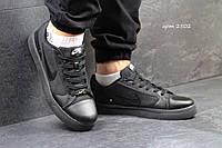 Мужские кроссовки Nike SB, джинс + пресс кожа, черные / кроссовки Найк СБ, стильные