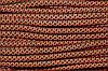 Шнур 6мм с наполнителем (100м) черный+оранжевый