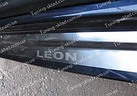 Накладки на пороги Seat Leon 3 (накладки порогов Сеат Леон 3)