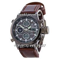 Мужские оригинальные кварцевые часы AMST Black-Black