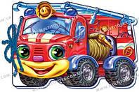 М які машинки : Пожежна машина (у) 12стор., м'яка обкл. 21.4x45.5 /20/(М333013У)